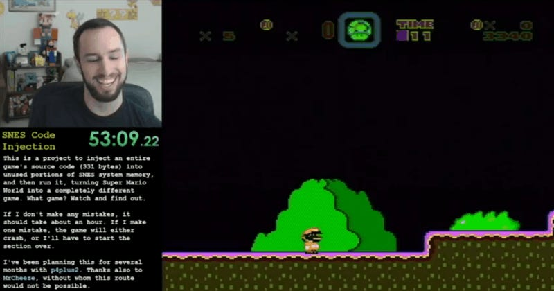 Streamer Transforms Super Mario World Into A Whole Other Game Just By Playing