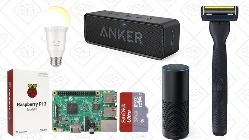 Illustration for article titled Monday's Best Deals: Anker SoundCore, Dorco Razors, Smart Light Bulbs and More