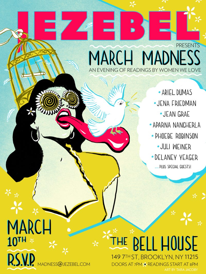 Illustration for article titled Jezebel's Hosting a March Madness Reading And You're All Invited