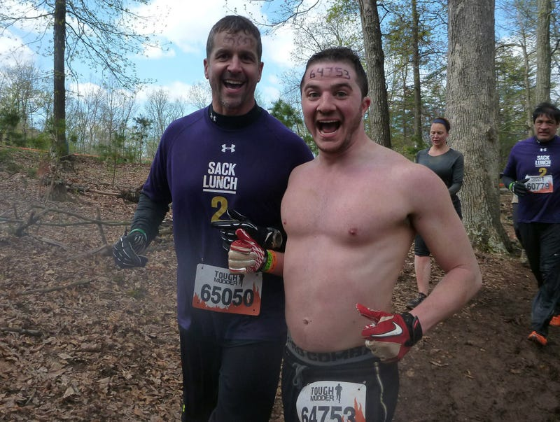 Illustration for article titled John Harbaugh Made A Shirtless Friend At An Adventure Race