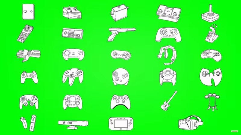 Screenshot: A Brief History Of Video Game Controllers
