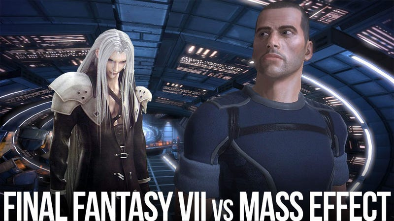 Illustration for article titled Unlikely Fan Fiction Crossover Battle: Commander Shepard Versus Sephiroth