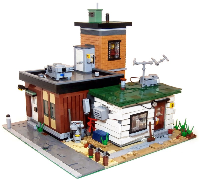 Illustration for article titled This build looks dilapidated even in shiny Lego brick