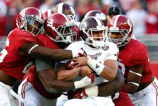 Illustration for article titled Alabama Drops Mississippi State, Will Get Back In The Top Four