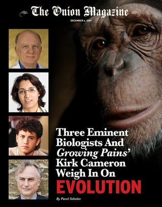 Illustration for article titled Three Eminent Biologists And 'Growing Pains'' Kirk Cameron Weigh In On Evolution