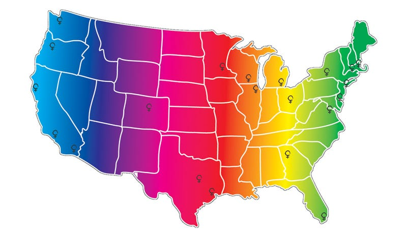 The Most Lesbianish Cities In America - Gay population in us map