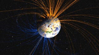Illustration for article titled Earth's magnetic field just might be gearing up for a reversal