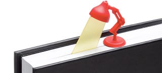 Illustration for article titled Adorable Desk Lamp Bookmark Sheds Light On the Last Page You Read