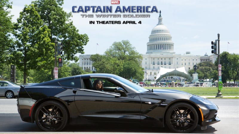 Illustration for article titled Black Widow Drives This Corvette Stingray In New Captain America Film