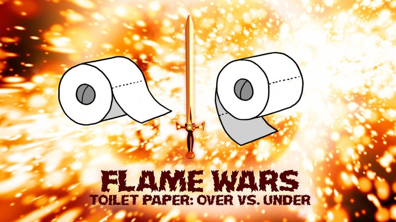 Illustration for article titled Which Way Should the Toilet Paper Roll?