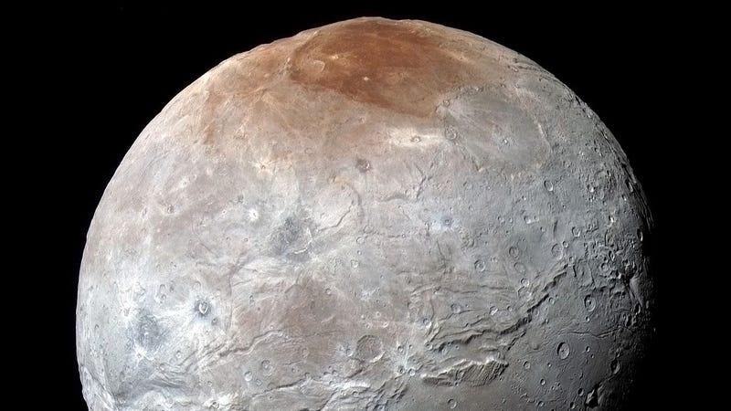 Caronte vista desde New Horizons. Imagen: NASA