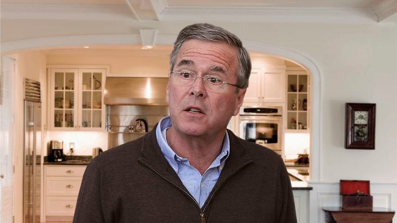 Illustration for article titled Jeb Bush Bungles Several Questions On First Day Back At Home
