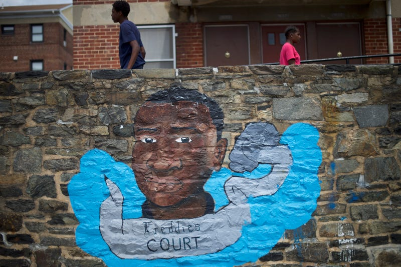 A commemorative mural for Freddie Gray, near the location where he was arrested, as seen on June 23, 2016, in BaltimoreMark Makela/Getty Images