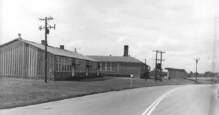 Tar paper shacks at the segregated R.R. Moton High School in Farmville, Va.NATIONAL PARK SERVICE/NATIONAL ARCHIVES