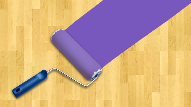 Completely Make Over Vinyl Or Laminate Floors With Paint - Painting laminate floors before and after
