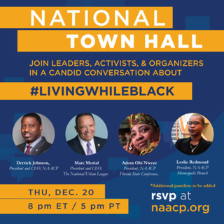 Illustration for article titled NAACP to Host National Town Hall Discussion on #LivingWhileBlack