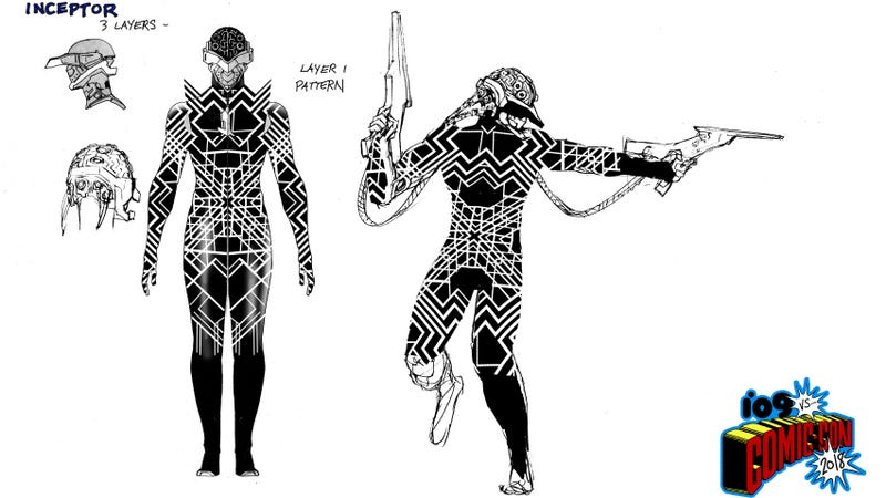 An extremely cool character design from Electric Warriors.