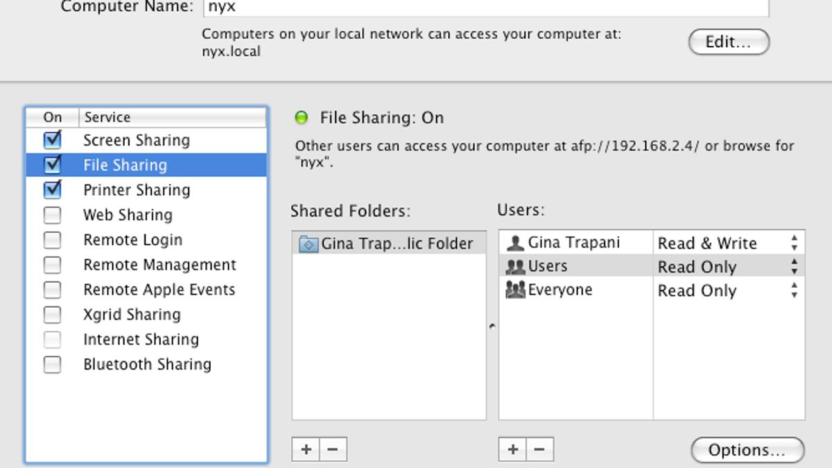Leopard Simplifies Networking