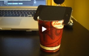 Illustration for article titled Turn a Coffee Cup into a Smartphone Car Mount