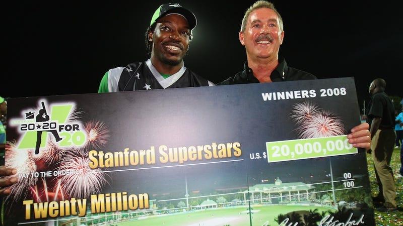 Illustration for article titled World's Biggest Cricket Benefactor Found Guilty Of $7 Billion Ponzi Scheme