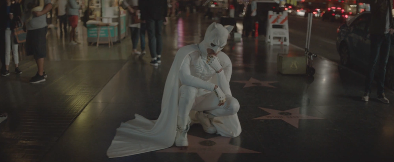 Illustration for article titled Jaden Smith Dresses Up as White Batman and Fights Other Fake Superheroes in New Music Video