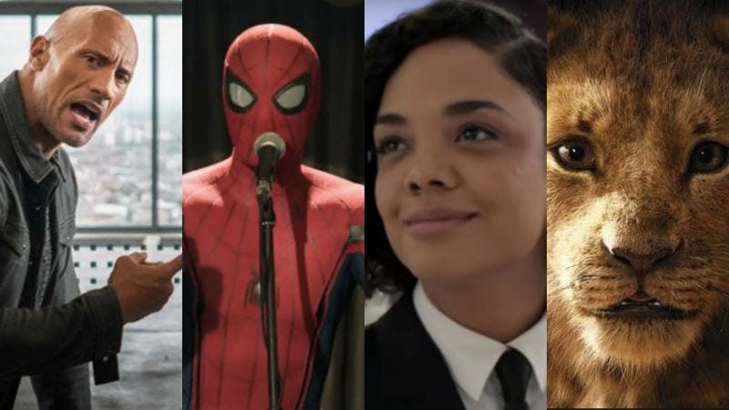 Dwayne Johnson, Spider-Man, Tessa Thompson, and Simba are all sure to be heroes this summer.