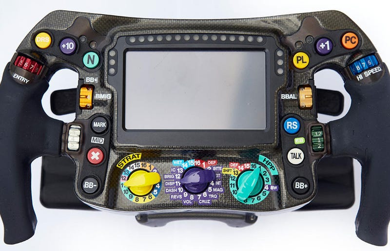 Illustration for article titled Here's Why F1 Drivers Don't Hit the Wrong Buttons on Their Complicated Steering Wheels