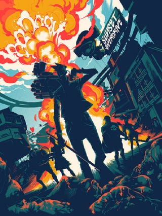 Illustration for article titled Limited Edition Sunset Overdrive Poster Revealed
