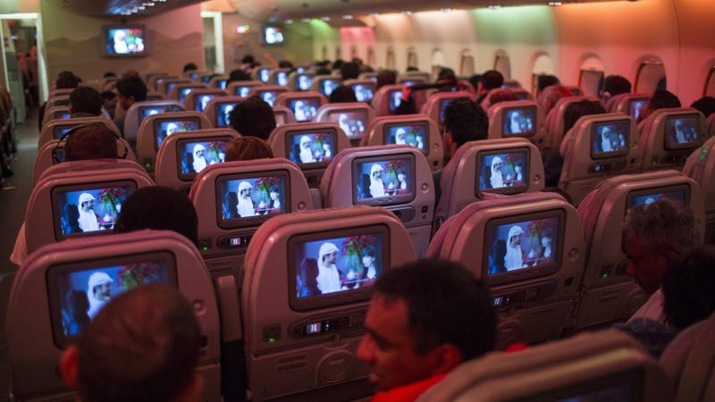 What it will look like on planes when Fuller House's next season drops. (Photo: Robert Nickelsberg/Getty Images)