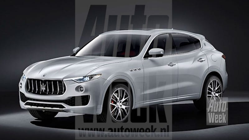 Illustration for article titled 2017 Maserati Levante: This Is Apparently It