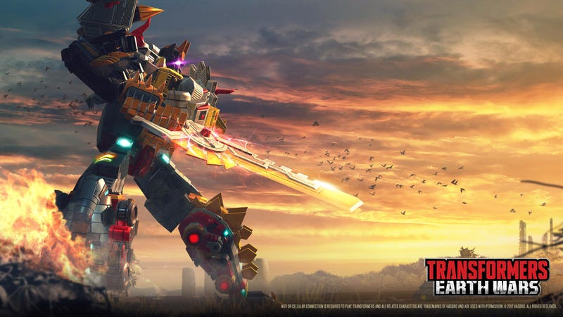 Illustration for article titled Transformers' Dinobots Finally Combine To Form A Giant Robot