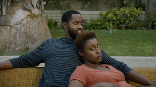 Lawrence (Jay Ellis) and Issa (Issa Rae) in HBO's InsecureHBO screenshot