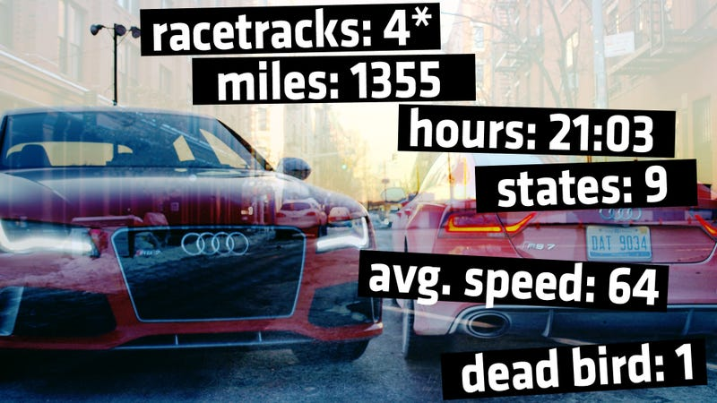 Illustration for article titled 560 Horsepower, 1355 Miles: From Daytona To NYC In An Audi RS7