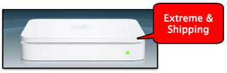 Illustration for article titled Apple Airport Extreme Shipping Today: Free 802.11n Updater, More Details