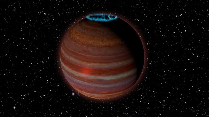 Artist impression of the object called SIMP0136.