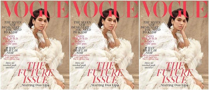 Dua Lipa covers the January issue of British Vogue