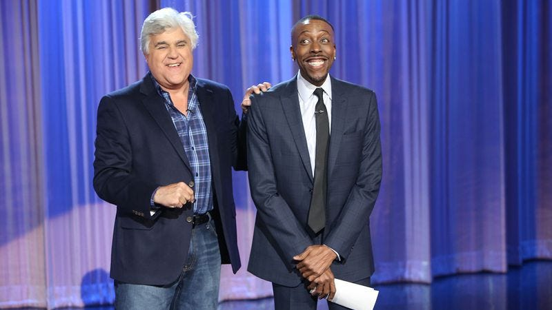 Illustration for article titled Jay Leno announces Arsenio Hall's show is getting a second season