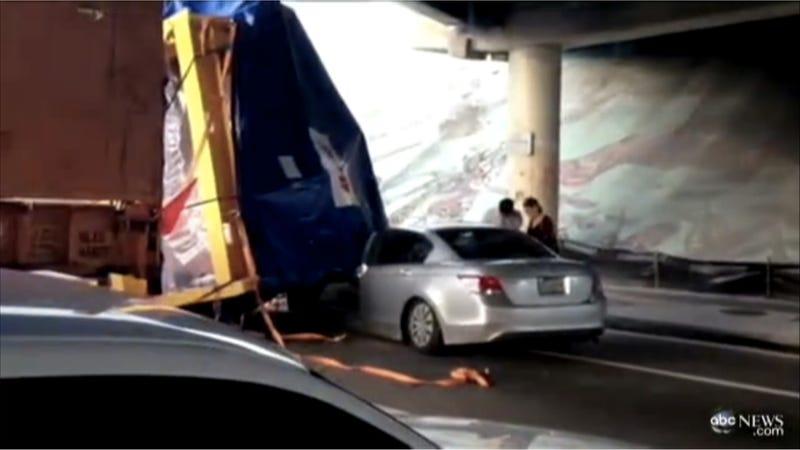 florida woman escapes death after giant engine lands on her car. Black Bedroom Furniture Sets. Home Design Ideas