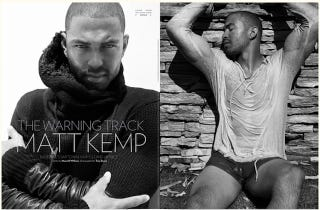 Illustration for article titled Matt Kemp Poses Shirtless, Sometimes Spends Too Much On Clothes, Wants A Woman He Can Shop With