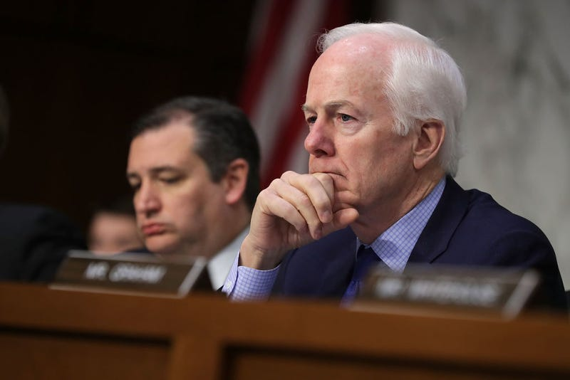 Sen John Cornyn (R-Texas), right (Chip Somodevilla/Getty Images)