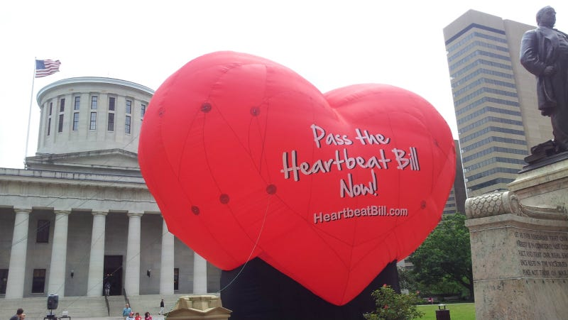 A balloon in support of the Heartbeat Bill one previous time it was introduced, June 2012. Photo via AP