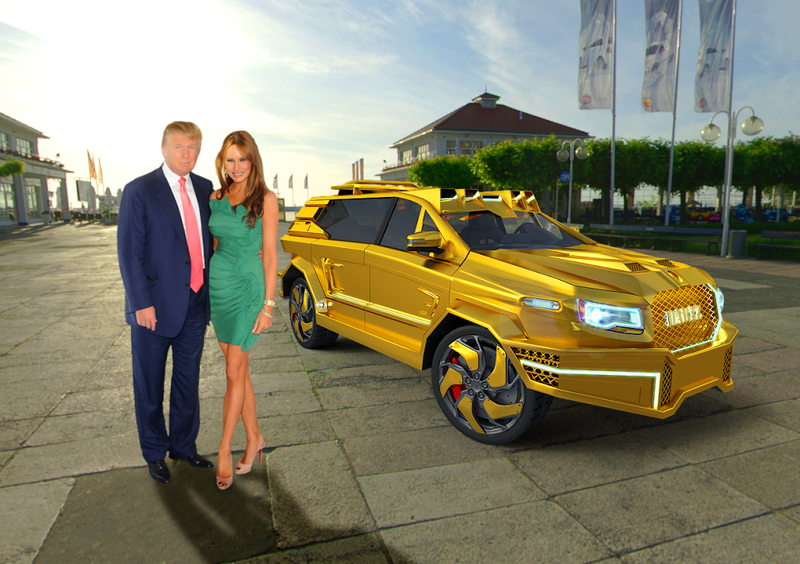 Illustration for article titled DARTZ Proposes The Only Presidential Limo For Trump That Makes Any Damn Sense