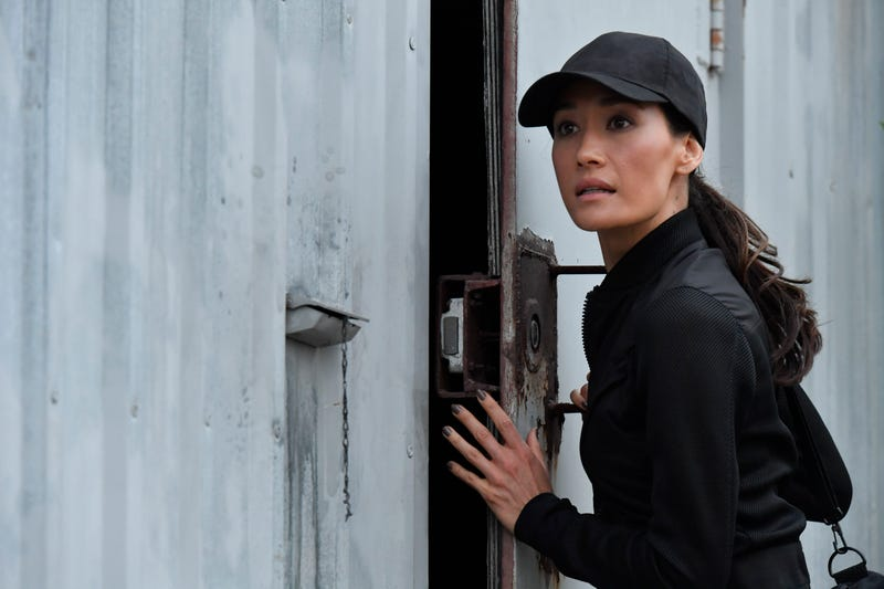 Maggie Q and a very important escape hatch (Photo: ABC/Ben Mark Holzberg)