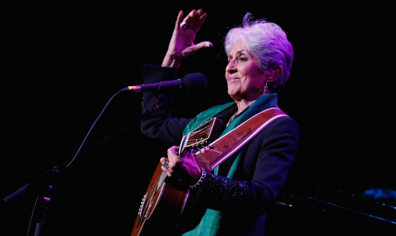 Joan Baez, Rock & Roll Hall of Fame inductee 2017. Image via Getty