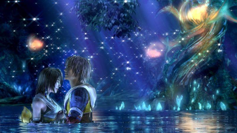 Yuna and Tidus in Final Fantasy X