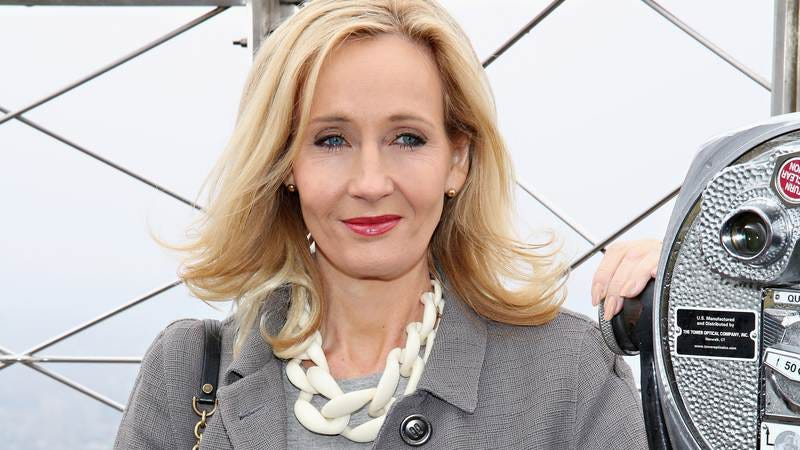 J.K. Rowling visits the Empire State Building. (Image by: Getty Images)