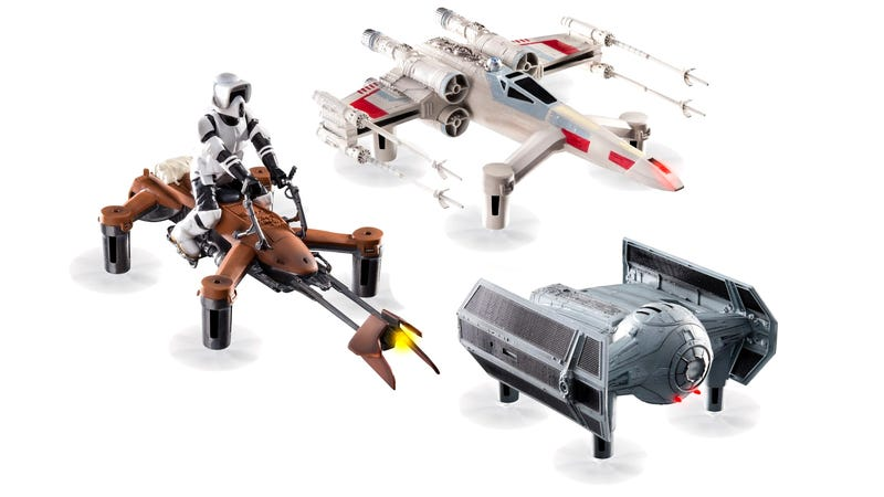 the drones jezebel with These Duelling Star Wars Drones Can Hit Speeds Of Up To 1788074063 on Maybe We Should Just Stop Worrying About Drones 1711341670 besides Maybe We Should Just Stop Worrying About Drones 1711341670 in addition Russias New Stealth Fighter Jet Is A Seriously Badass 1474692127 furthermore Drone Helicopter Gets Deadlier With Precision Kill Weapons Upgrade furthermore Heres Our Closest Look At Amazons Drone Delivery Servic 1745146152.