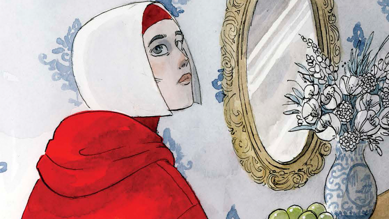It's Offred as you've never seen her before, in the new Handmaid's Tale graphic novel.
