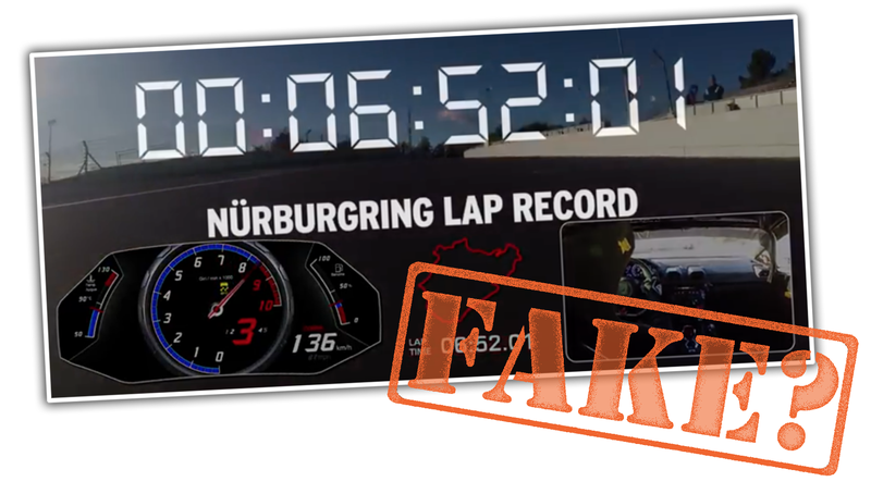 Illustration for article titled Did Lamborghini Fake Its Record-Breaking Nürburgring Lap Time? Update: It Used Unique Tires Too