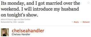 Illustration for article titled Did Chelsea Handler Get Married?
